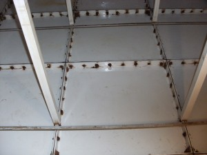 Water tank 1 - before being cleaned by Waterchemist Ltd